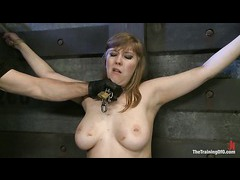 A chubby slut gets bound and stretched for fierce face fucking