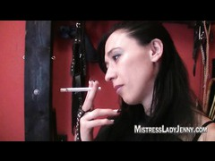 Lady Jenning smoking fetish