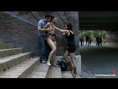 A sexy girl gets dominated and fucked in the streets of Berlin