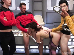 A star trek gangbang parody with the next generation of hardcore penetration