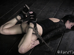 Exquisite and rough pussy whipping for captivating raven-haired beauty