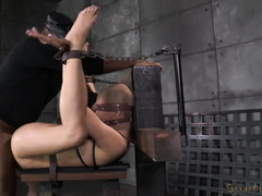 Big boobs blonde receives mind-blowing jamming punishment for her ass hole