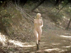 Terrifying and kinky nature adventure for stunning blonde and raven-haired beauty