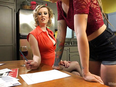 Young babe receives rough punishment after signing the whore in training contract