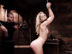 Skinny blonde has to receive kinky punishment in order to become a good girl