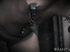 Degrading tough choco darling with vicious whipping and caning punishment