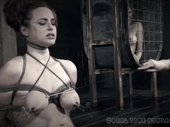 Big boobs redhead thanked her members profusely for giving her rough punishment
