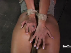 Old master welcomes big boobs brunette to the farm with wicked punishment