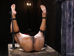 Fascinating and arousing squirting session from stunning redhead ebony