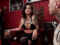 Bitchy mistress wants stud to know his place when facing a beautiful babe like her