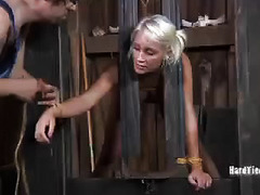Outrageous and kinky farm house torture for beautiful submissive blonde