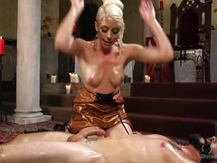 It takes more than a desire to serve a divine mistress and stud has to pay the price