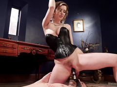 Frustrated mistress decided to let out her kinky anger on handsome stud