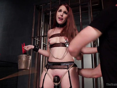 Lovely slave must experiences the joy of rough fucking and pain pleasures
