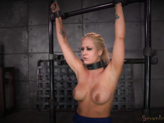 A good throat fuck for big boobs blonde while she rides on a sybian machine