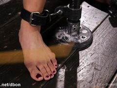 Bounded Asian slave could not hold in her tears as she receives tough punishment