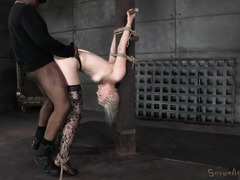 Extreme and relentless doggystyle banging for stunning blonde's tight pussy