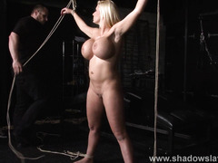 German slavegirl Melanie Moons electro bdsm and zapped electric toy tortures of tied submissive in bondage and screaming pain