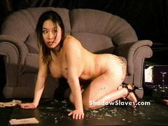 Bdsm reality show of asian slave Tigerr Benson drawing punishments and hot waxing torments of busty japanese submissive playing for pain