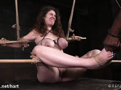Black master punishes lovely brunette whore until she submits totally to him