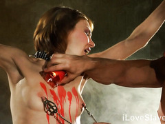To please master, skinny slave in love must experience rough pain pleasures