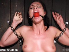 Wicked pain pleasures for beautiful gagged and bounded slave sweetheart
