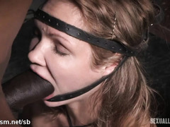 Degrading blonde slut with rough beaver drilling and wicked deepthroating
