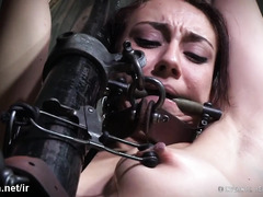 Tormenting young beauty's exquisite bottoms with tough whipping and flogging