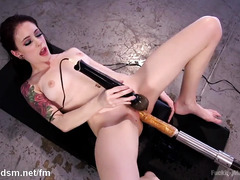 Cute brunette wants to experience multiple hardcore fucking with several sex toys