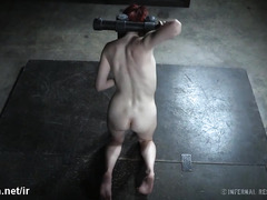 Sweet redhead slave gets her pussy awfully wet from master's wicked toying