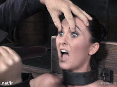 Two slaves are tormented separately in order to extract screaming pains from them