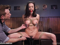 Slave surrenders her pussy and butt hole for master's vigorous pounding delights