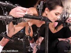 Submissive slave needs master to punish her smooth ass and tight beaver