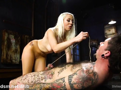 Tough mistress wants only total submission from tattooed and bounded stud