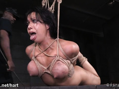 Sweet Asian endures vigorous thrashing and punishment for her juicy twat