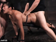 Humiliating sweet Asian with rough doggystyle drilling and deepthroating