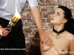 Sweet slave endures vigorous and painful punishment from her horny master