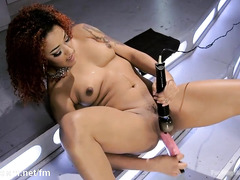 Creating total wetness down sultry black beauty's horny and hungry twat