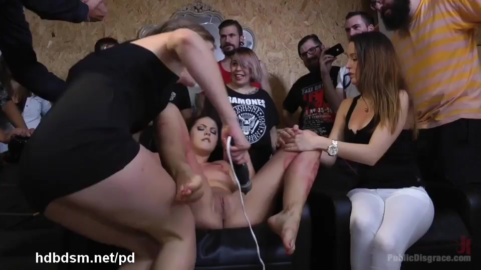 Humiliating and wild sexual punishment for hot slave at a local hair salon  @ goBDSM