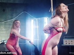 Sexy blonde mistress is having an awesome fucking time with her hot slave