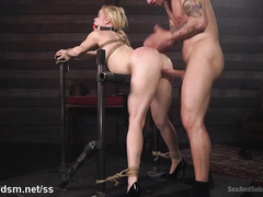 Punishing big boobs blonde with fervent and rough beaver hammering pleasures