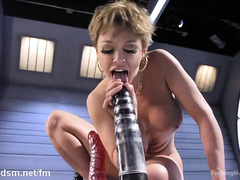 Big boobs chick squirts wildly from getting her anal tunnel and pussy pounded