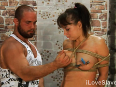 Experiencing rough flogging delights gives big boobs brunette great satisfaction