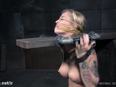 Wicked and rough punishment for bounded blonde slave sweetheart