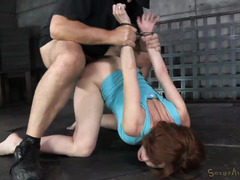 Big tits brunette squirts wildly after receiving rough beaver hammering punishment