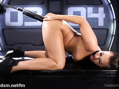 Exploring the depths of brunette's tight anal tunnel with three dildos