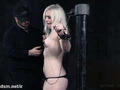 Blonde submissive mature in bdsm scene
