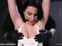 Exquisite beating punishment and dildo fucking pleasures for bounded slave