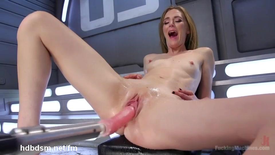 Blonde Tied Fuck Machine