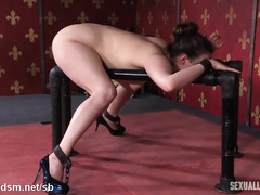 Punishing stunning brunette with vigorous blowjob and rough doggystyle sex